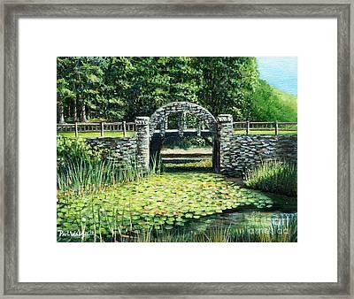 Garden Bridge Framed Print by Paul Walsh