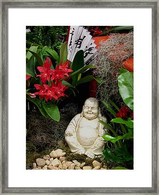 Garden Buddha Framed Print