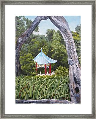 Garden By The Bay Framed Print by Lisa Barr