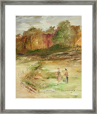 Garden By The Fence Framed Print by Edward Wolverton
