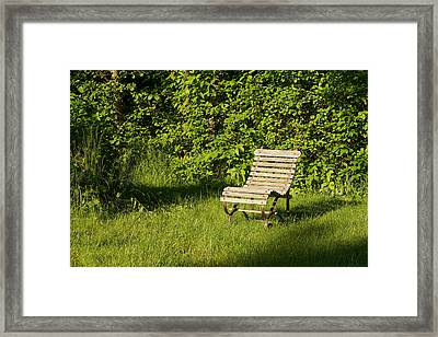 Garden Chair Framed Print