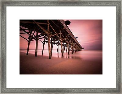 Garden City Pier June Sunset Framed Print by Ivo Kerssemakers