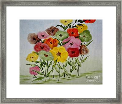 Garden Color Spot Framed Print by Mary Deal