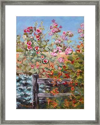 Garden Companion Framed Print by Julie Maas
