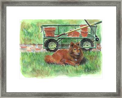 Garden Companion Framed Print by Sheryl Heatherly Hawkins