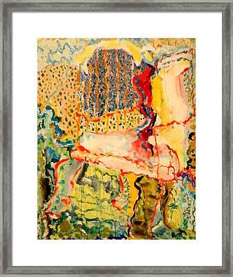 Garden Corner Framed Print by Jerry Hanks