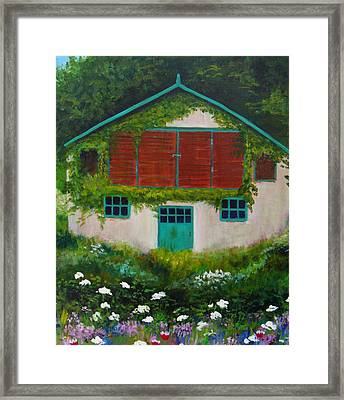 Garden Cottage Framed Print by Anne Marie Brown