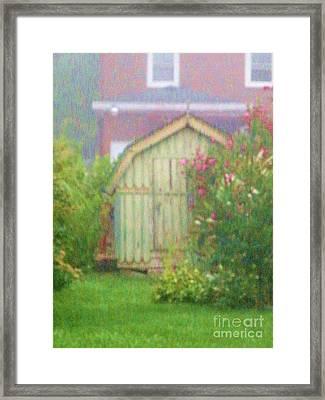 Garden Daybreak Framed Print by Christine Belt