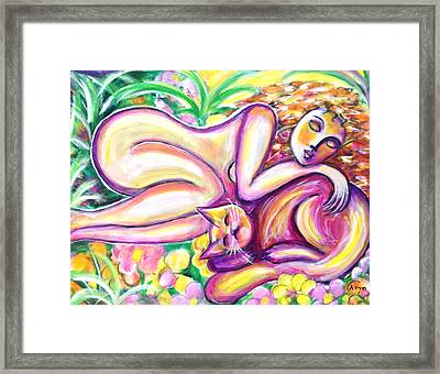 Framed Print featuring the painting Garden Delight by Anya Heller