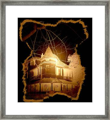 Garden District Glowing Framed Print by Linda Kish