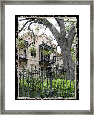 Garden District House Framed Print by Linda Kish