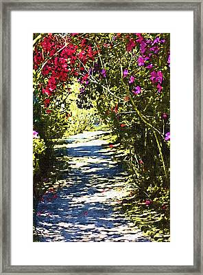 Framed Print featuring the photograph Garden by Donna Bentley