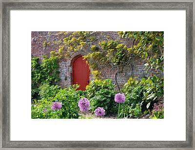 Garden Door - Paint With Canvas Texture Framed Print