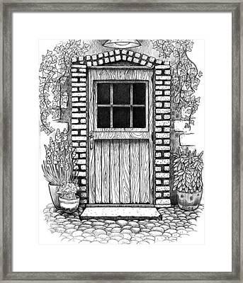 Garden Doorway Framed Print by Scott Cattanach
