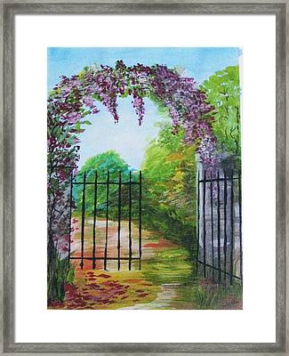 Framed Print featuring the painting Garden Entrance by Trilby Cole