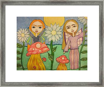 Garden Fairies Framed Print