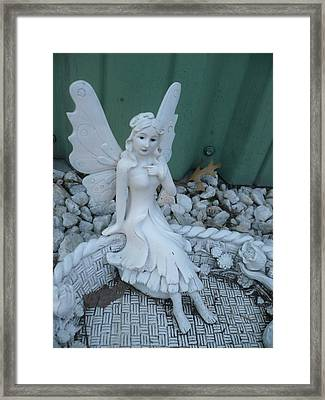 Garden Fairy Framed Print by Stephen Davis