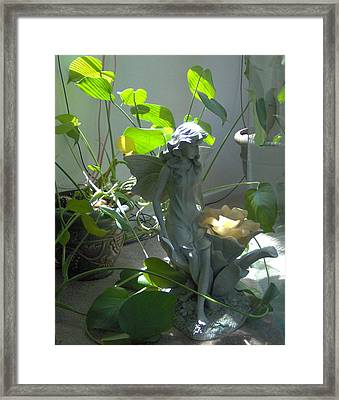 Garden Fairy Framed Print by Tori  Reynolds