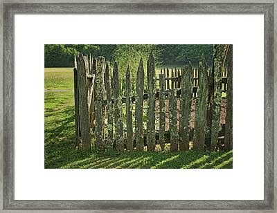 Framed Print featuring the photograph Garden - Fence by Nikolyn McDonald
