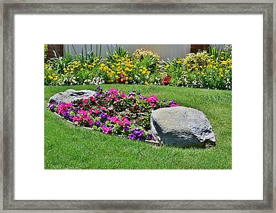 Garden Flowers Framed Print by Linda Brody