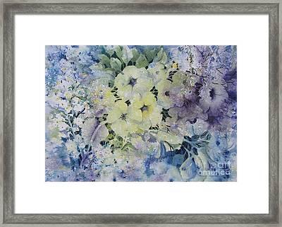 Garden-flowers Framed Print by Nancy Newman