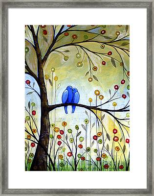 Garden For Two Framed Print by Amy Giacomelli