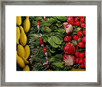 Garden Fresh Framed Print by Doug Strickland