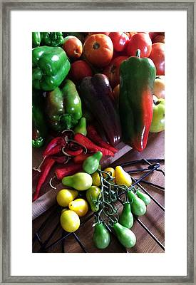 Framed Print featuring the photograph Garden Fresh Produce by Deb Martin-Webster