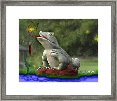Garden Frog Framed Print