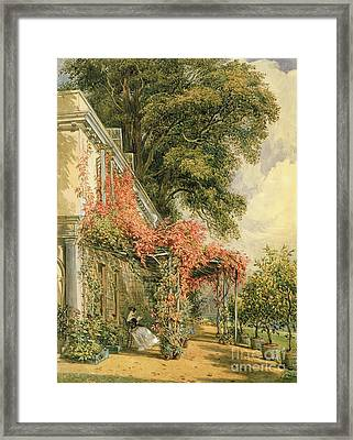 Garden Front Of Mr Robert Vernon's House At Twickenham Framed Print