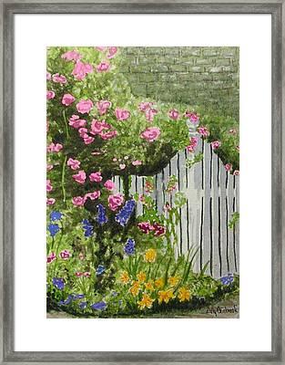 Garden Gate Framed Print by Ally Benbrook