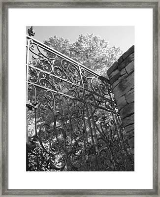 Garden Gate Framed Print by Audrey Venute