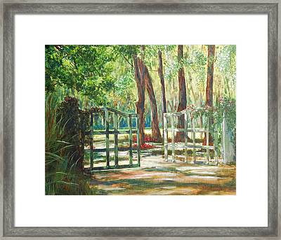 Garden Gate Framed Print by Beth Maddox
