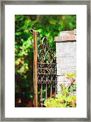 Framed Print featuring the photograph Garden Gate by Donna Bentley