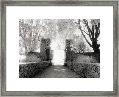Garden Gate Framed Print by Michael Hudson
