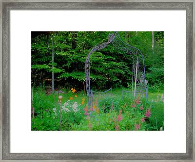 Framed Print featuring the photograph Garden Gate by Susan Carella