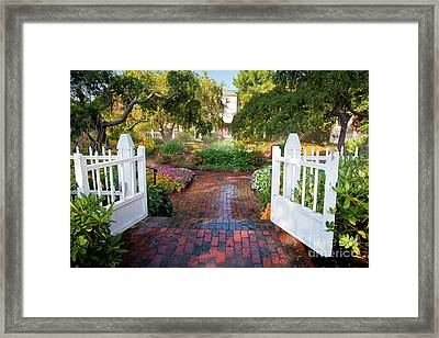 Garden Gate Framed Print by Susan Cole Kelly