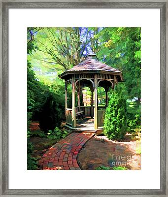 Framed Print featuring the photograph Garden Gazebo by Kerri Farley