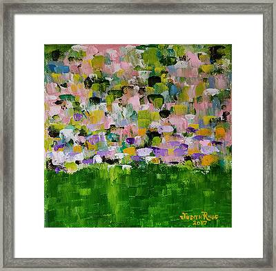 Framed Print featuring the painting Garden Glory by Judith Rhue