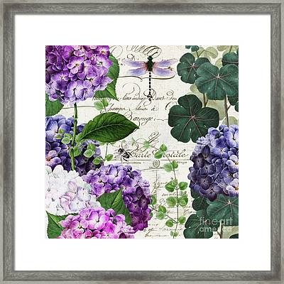 Garden Glow II Framed Print by Mindy Sommers