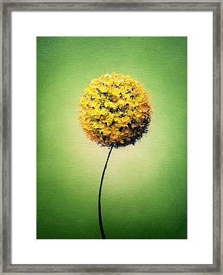 Garden Glow Framed Print