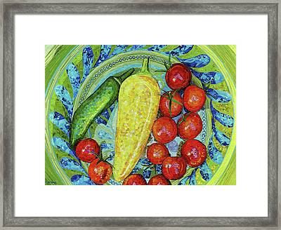 Framed Print featuring the mixed media Garden Harvest by Shawna Rowe