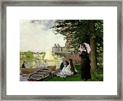 Garden House On The Zaan At Zaandam Framed Print by Claude Monet