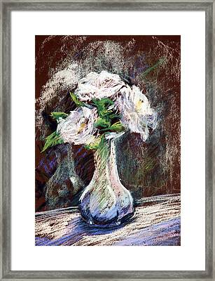 Garden Icebergs Pastel Framed Print by Athena Mantle