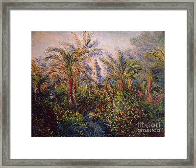 Garden In Bordighera Impression Of Morning Framed Print