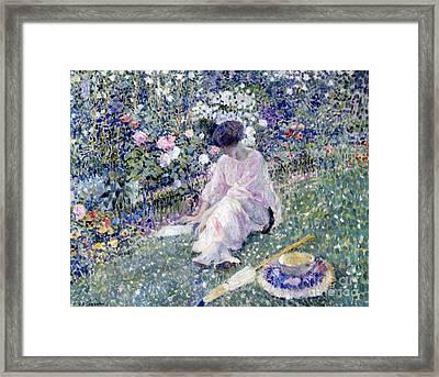 Garden In June Framed Print