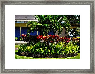 Garden Landscape 4 In Abstract Framed Print