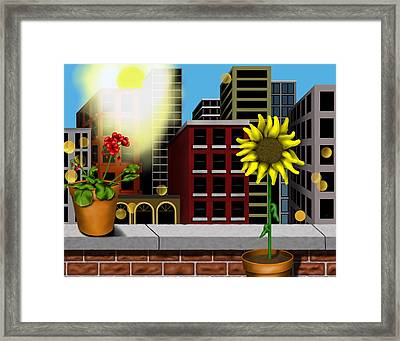 Garden Landscape II - Across The Urban Jungle Framed Print