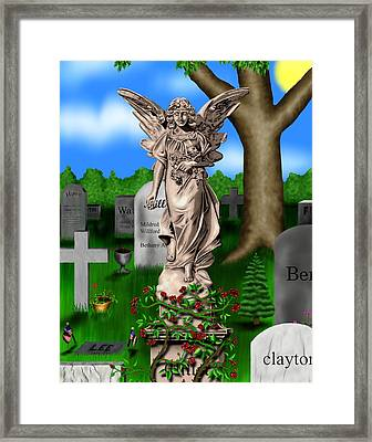 Garden Landscape IIi B - Where The Dead Sleep Framed Print