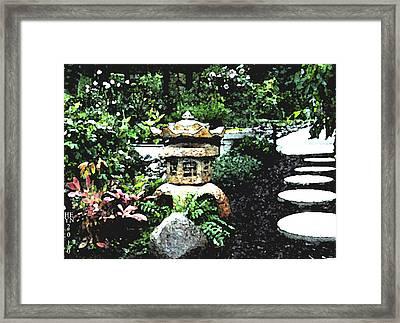 Garden Lantern Framed Print